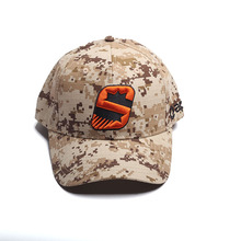low MOQ 6 panel baseball cap with 3d embroidery logo Camo cap
