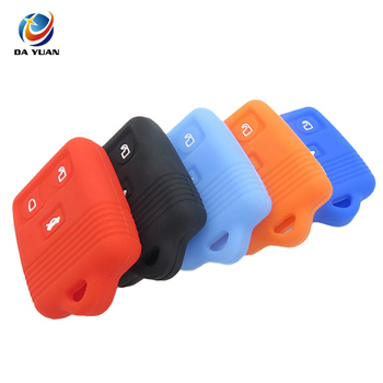 AS067017 Silicone Car Key Cover Case Rubber Key Fob Holder for Ford Remote Key 3 Button