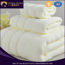 combed cotton , light yellow towel set for hotel or salon made in china