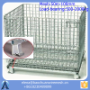 Folding Wire Mesh Cage Storage Steel Crate, Foldable Steel cage