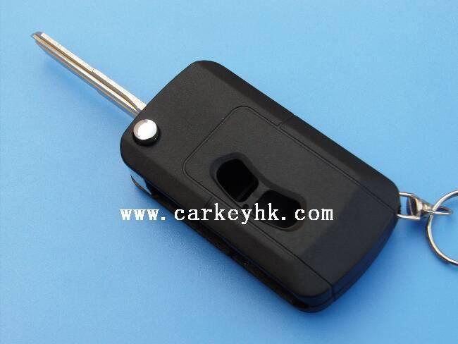 2button blank modified flip folding remote Key Shell for Mitsubishi Lancer s330