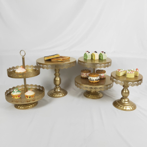 High Quality Cake Stand 4 Pieces in Set Dessert Table Wedding Party Shower Event Supplier Sweet Table Cake Decoration