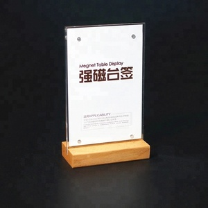 tabletop menu display stand A4 clear acrylic sign holder for display