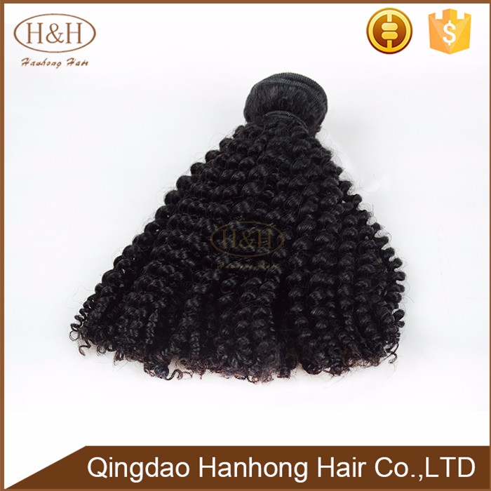 No tangle hot selling fashion human vingin kinky curly braiding hair weave