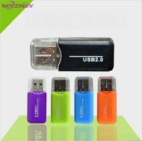 High Speed mini Micro T-Flash TF SD Card Reader USB 2.0 With Lid Adapter Memory Card Reader