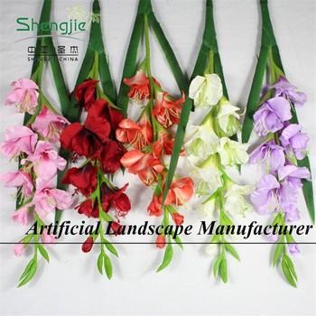 Sjyy018 Decorativo Flor Artificial Seda Gladiolaespada Lilygladiolo Arreglos Buy Arreglos Flor Tropical Arreglomagnolia Product On Alibabacom