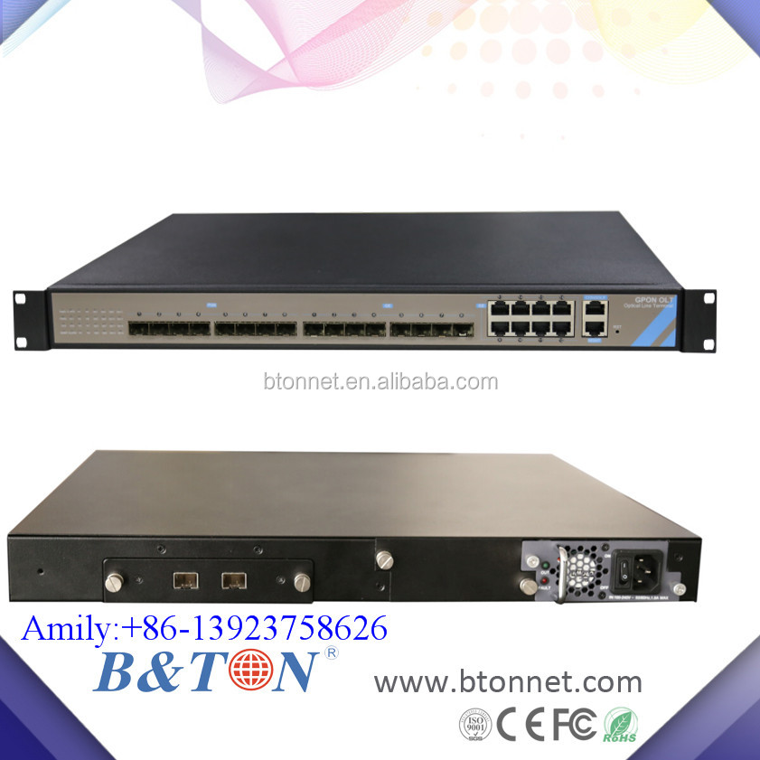 1U 8 port EPON GPON independiente 8PON puerto OLT