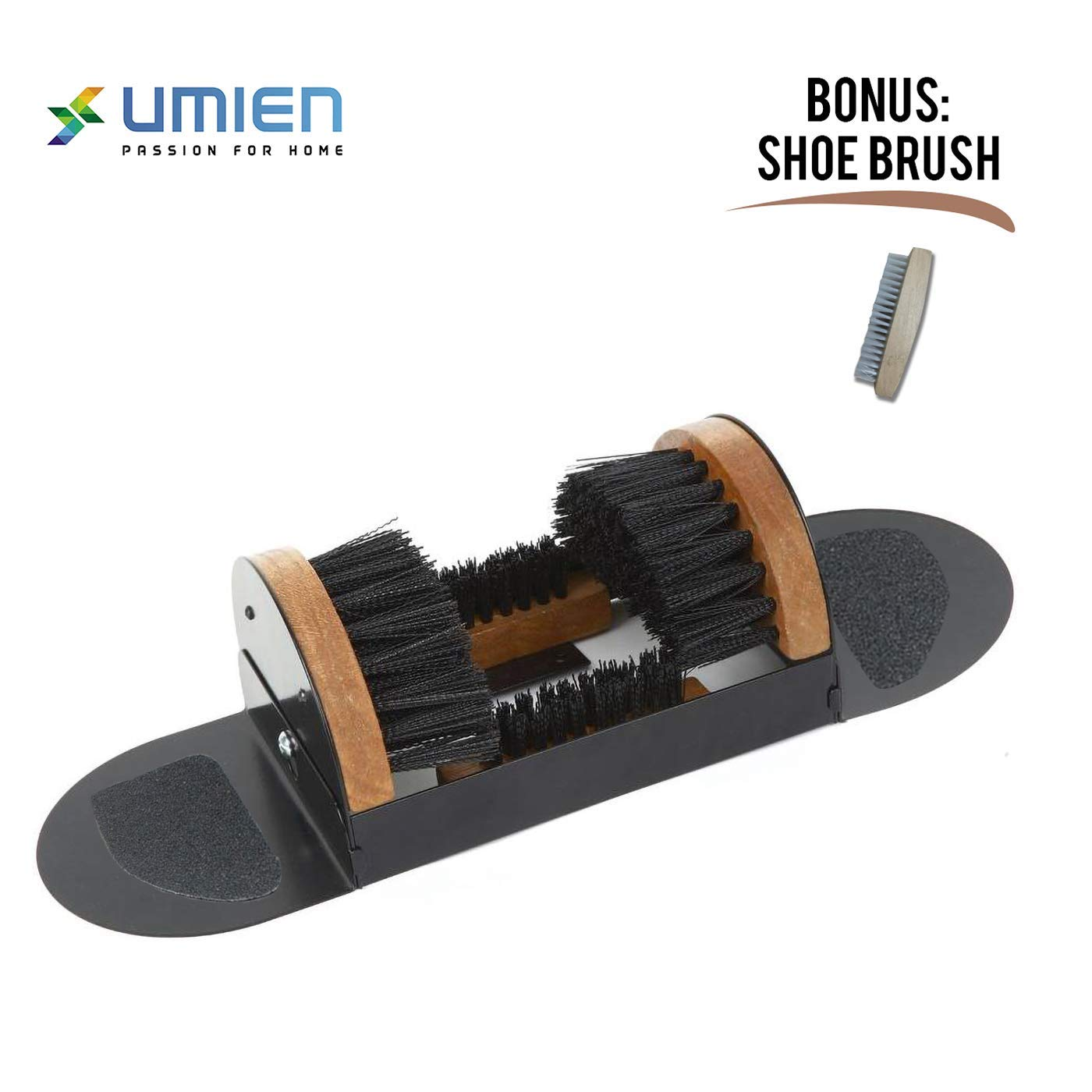 Boot Scraper, Scrubber, Cleaner, Dryer with Two Fold-Up Magnetic Sides No Mounting Required Indoor and Outdoor use - Includes Extra Shoe Brush - Easy to Use for Children & Adults