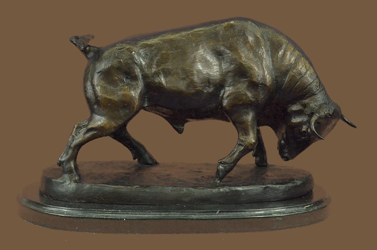...Handmade...European Bronze Sculpture Stock Market Bull Signed By Moigniez (1X-59557) Bronze Sculpture Statues Figurine Nude Office & Home Décor Collectibles Sale Deal Gifts