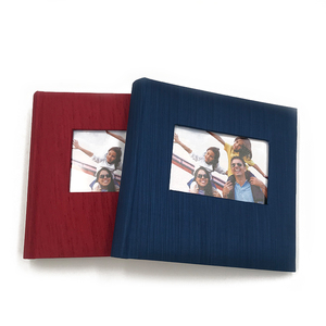 Custom DIY leatherine book bound 4R 200 pockets photo frames wedding photo album