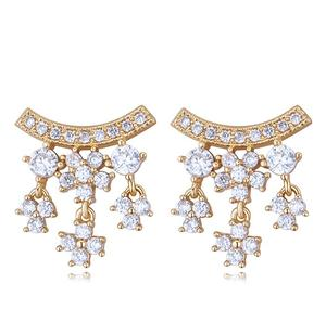 26082 Wholesale Checkout body jewellery inlay led earrings