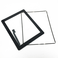 50/pcs For ipad3 iPad 3 Touch Screen Digitizer+ Home Button +Sticker + Camera holder Complete DHL Free Ship 40