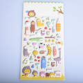 1 Sheet Creative Styling Kawaii 3D Cartoon Sheep zoo PET Diary bubble Stickers Decorative For DIY