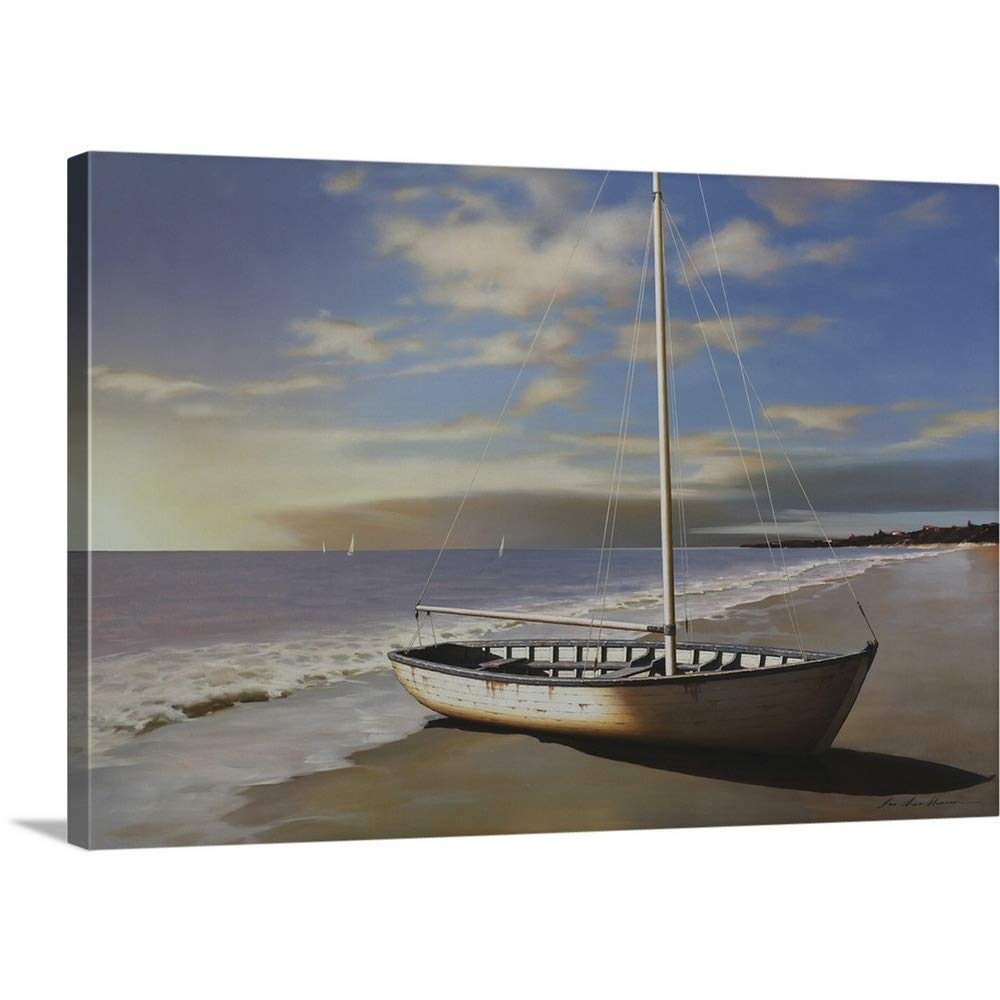 "GREATBIGCANVAS Gallery-Wrapped Canvas Entitled Sunset by Zhen-Huan Lu 48""x32"""
