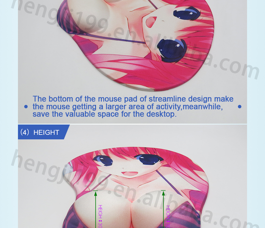 New Special Touch Feeling 3D Sexy Girls Bust Mouse Pad Custom Boob Mouse bust pads