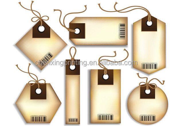 New Design Die Cut Paper Gift Tags,Hang Tags,Favor Tags Garment
