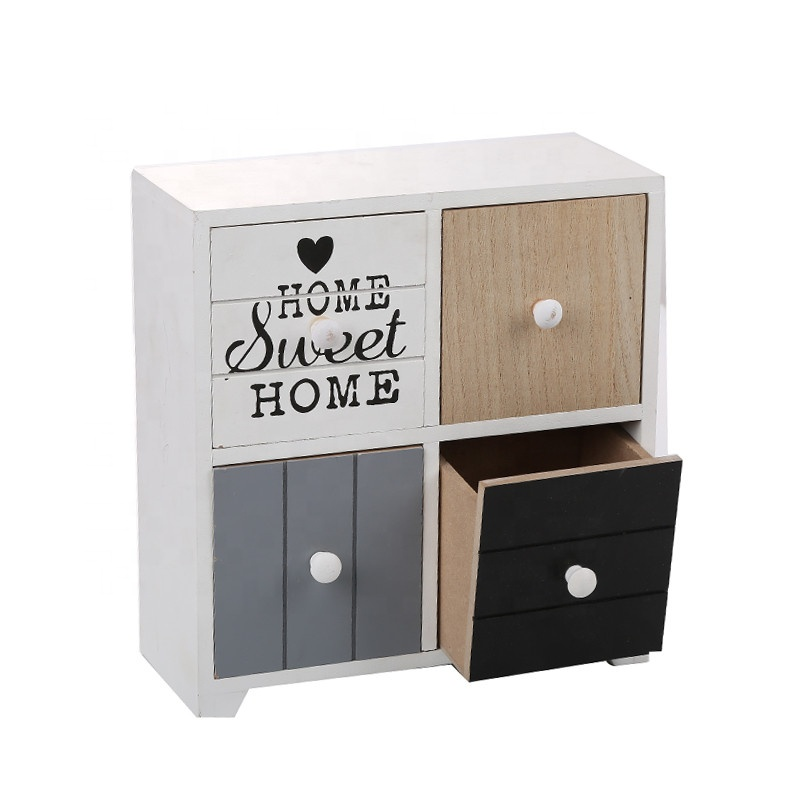 HS-HOME SWEET HOME woonkamer make kabinet opbergdoos mini commode hout