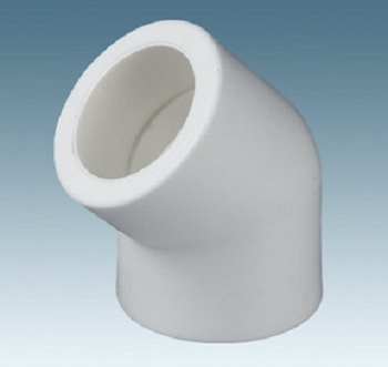 Plastic Pipe Fitting PPR 45 Degree Elbow