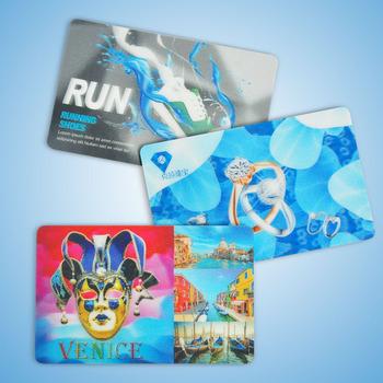 Luxury Plastic 3d Business Cardlenticular Business Cardsflip 3d