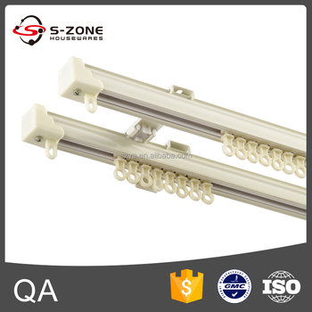 Modern Design Aluminium Mute Sliding Curtain Track Double Curtain Rail