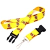 Adjustable buckle custom dye sublimation printing polyester Lanyard