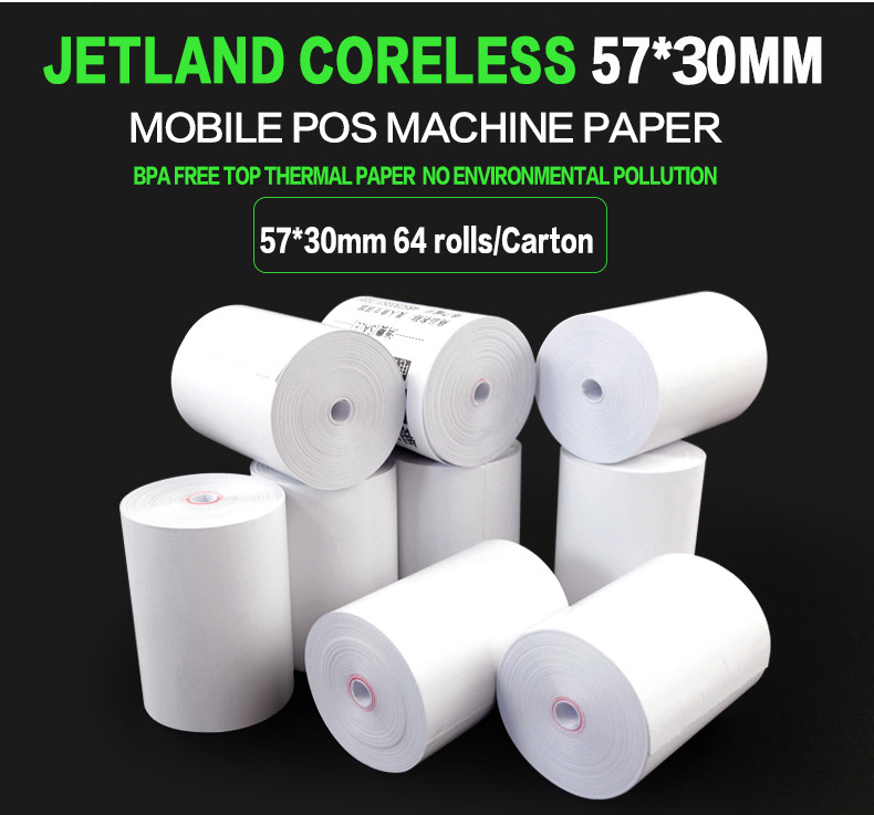 64 PCs Thermal Paper Cash Register Receipt Roll for Mobile 58mm 30mm Mini Printer BPA free