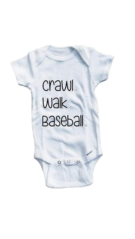 Baby Tee Time Baby Boys' Crawl walk baseball One piece