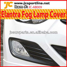 For Hyundai 2011 Elantra Fog Lamp Covers PP Car Front Lamp Cover