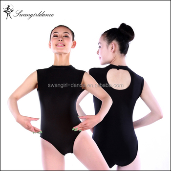 647fae1463af black mock turtleneck keyhole back gymnastic leotards for girls spandex dance  leotard ballet SD4023