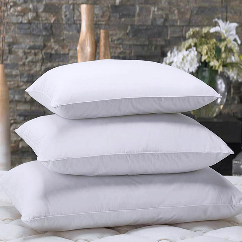 Egyptian Bedding 100% Cotton Goose Down Feathers Fill Cushion Inner Pillow for Bedding and Sofa