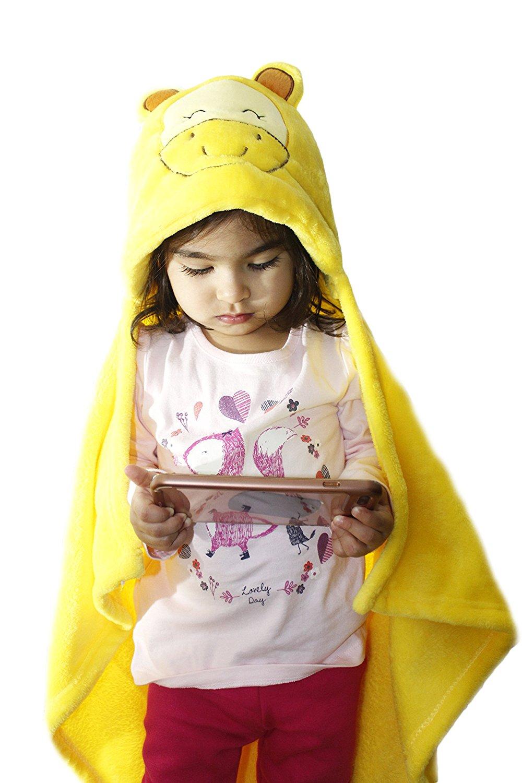 Zoopurr Pets Baby Boys' or Baby Girls' Hooded Animal Blanket; Super Soft, Huggable Plush Hoodie Blanket (King of Jungle, Lion)