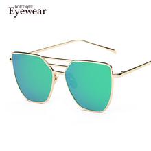 BOUTIQUE New Women Luxury Cat Eye Sunglasses Women Alloy Frame Sunglasses Double-Deck Alloy Frame 7 Colour