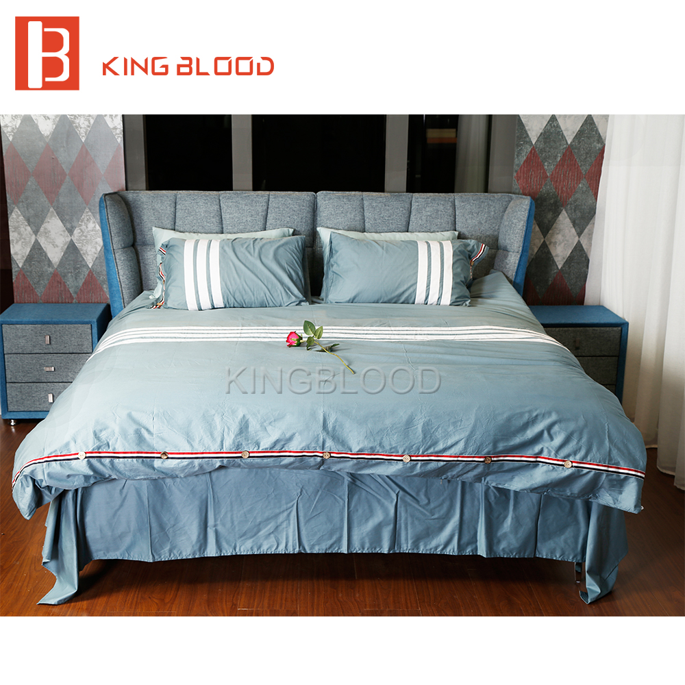 King size <strong>bed</strong> with <strong>bed</strong> sheet for European style bedroom furniture