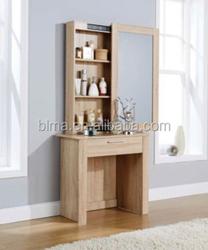 Wooden Dressing Table With Full Length Mirror For Bedroom Furniture