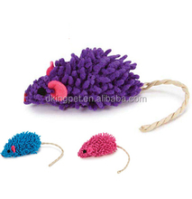 Bright Color Mop Plush Stuffed Mouse Cat Toy