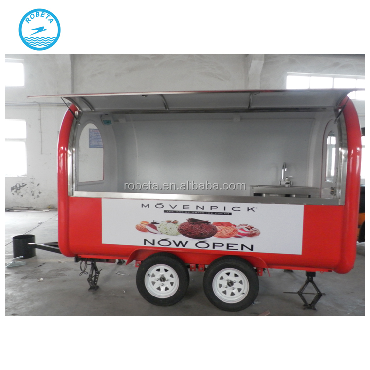 bakery food cart trailer for sale coffee kiosk with wheels