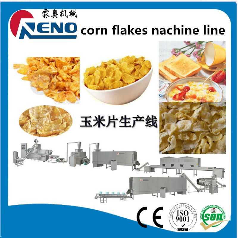 Extruded corn flakes /coco shell processing plant