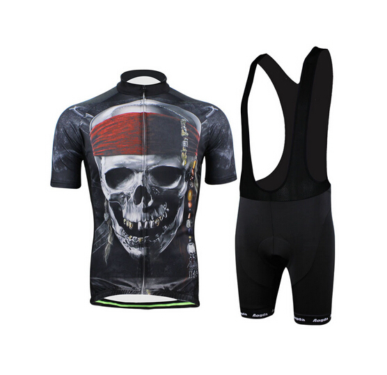 Get Quotations · hot selling customized manga pirate skull 2015 summer men Cycling  jersey + bib Shorts Thin wicking 37dc08aae