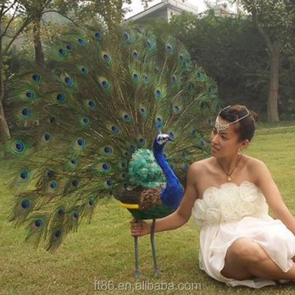 feather mini craft decoration artificial peacock