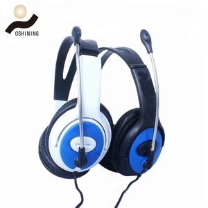 Factory price 40mm speaker wired headset good sound wired soft earmuffs on-ear headphones OS-A2