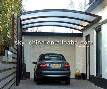 Portable Aluminum Frame Carport with polycarbonate roof ...