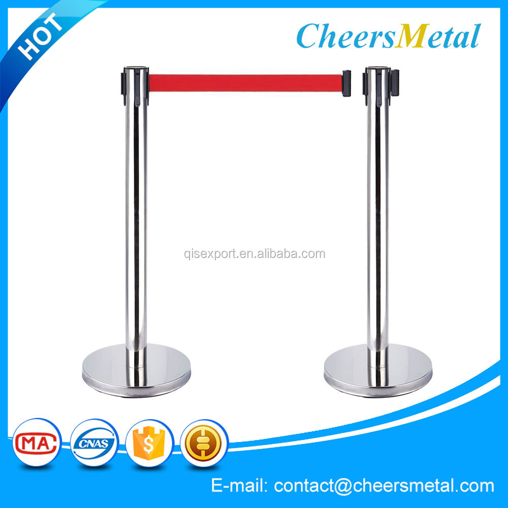 crowd control barriers, exhibition standing rope post with iron base