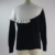Fitness White Black Patchwork Pullover High Quality Custom Knitted Winter Women Sweater Korean