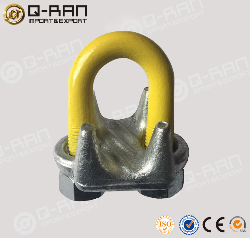 Steel Cable Connectors Drop Forged Wire Rope Gripper Grip - Buy Wire ...