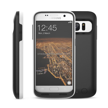 4500mah External battery Power Charger Case for Samsung Galaxy S7 bumper protective design QC2.0