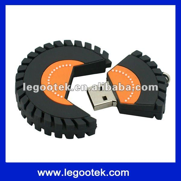 oem logo service pvc wholesale wheel shape usb flash drive