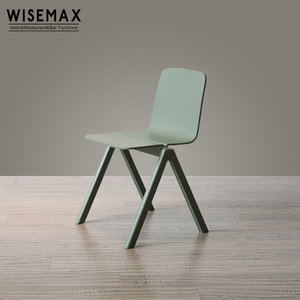 Simple design classic dining restaurant coffee shop furniture bent plywood side wooden chair for sale