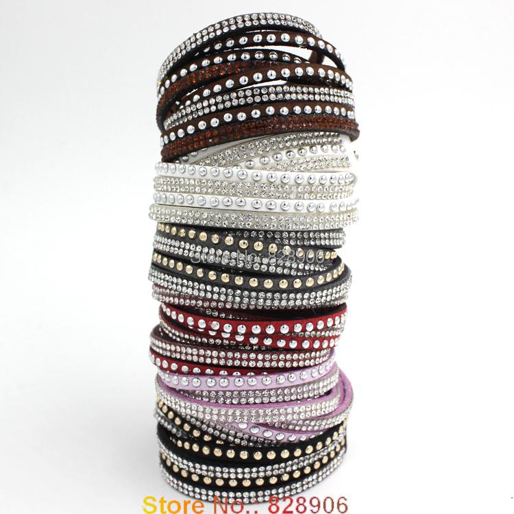 ec86388ad47df Buy Newest Rhinestone Bling Crystal Fashion Wrap Bracelets slake ...