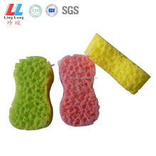 Waves style shower pad absorbent exfoliating bath scrubber sponge