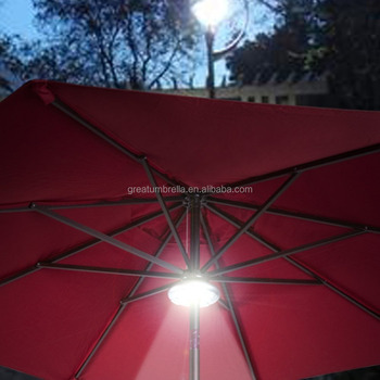 battery operated rechargeable 28 leds patio umbrella light. Black Bedroom Furniture Sets. Home Design Ideas